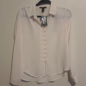 Forever 21 high low button up blouse Size Small